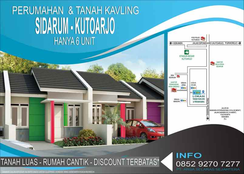 Perumahan Sidarum Kutoarjo Purworejo Type 36 & 46 Tanah ...